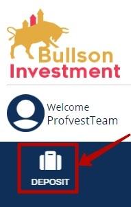Создание депозита в Bullson-Investment