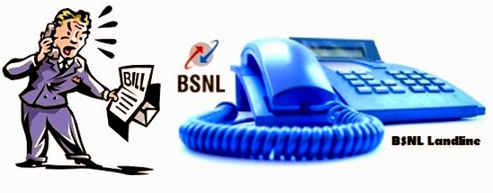 current bsnl landline bill