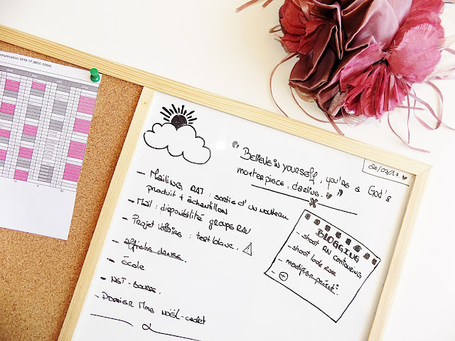 ma nouvelle routine organisationnelle : des agenda, trello et un mooboard, le tout accompagné de petits dessins et beaucoup de couleurs, pratique, simple et rapide à la fois