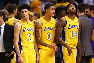 The young LA Lakers players