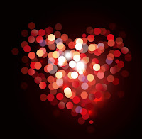 Valentine Bokeh Heart Shaped Light Background