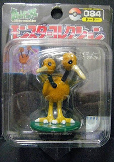 Doduo Pokemon figure Tomy Monster Collection black package series