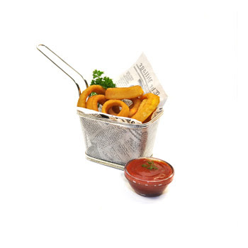 metal basket, fryer basket, serving basket, french fries basket