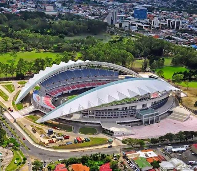 Estádio Nacional: o estádio de futebol em San José, que a Costa Rica não podia sonhar, a China pagou.