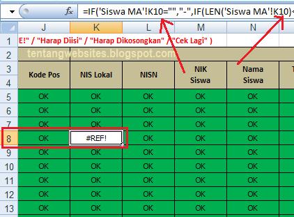 Cara mengatasi Error #REF! pada Emis Excel