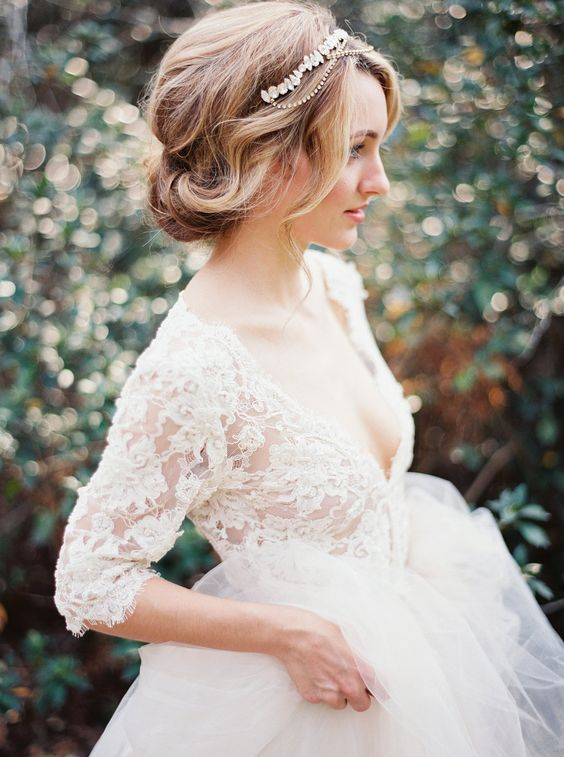 Vintage Romantic Bridal Hairstyles
