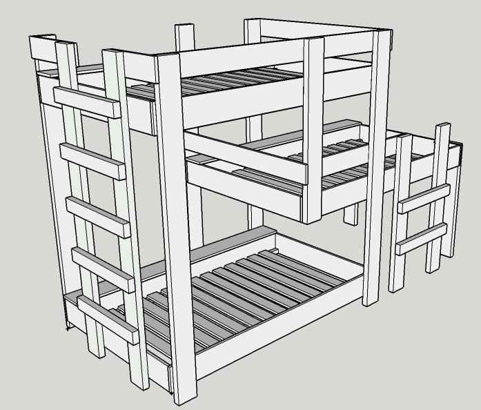 Barning Triple Decker Bunk Bed