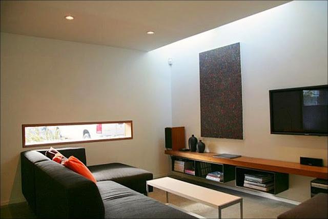 sala Casa com escritório containers