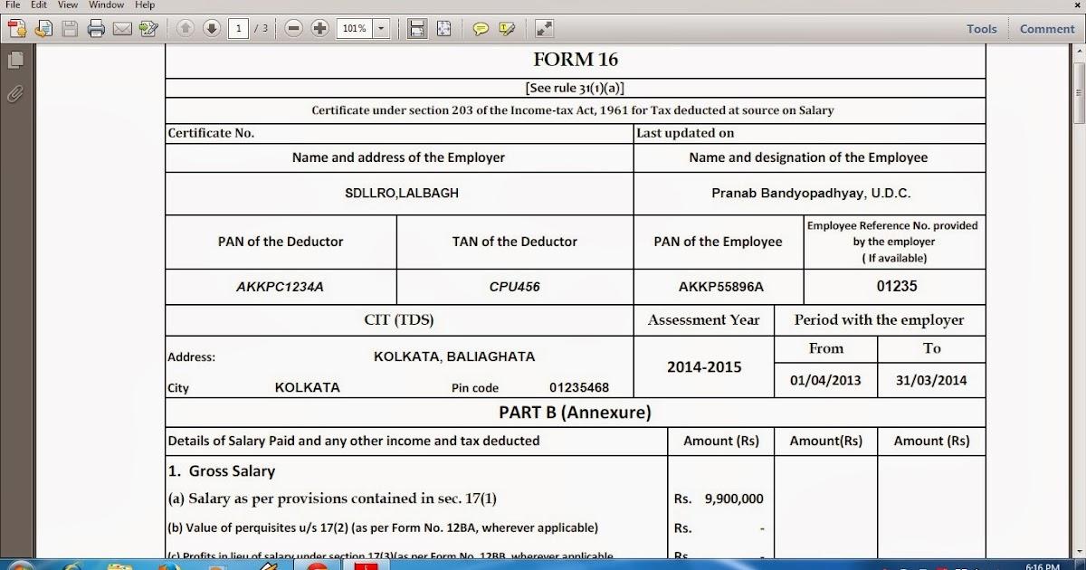 form 16 part b pdf