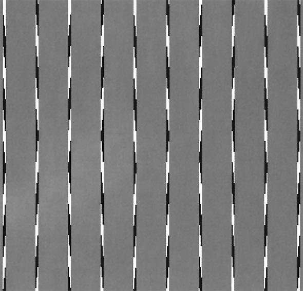Düz olmasına rağmen eğri gibi görünen çizgiler siyah beyaz desenli çizgiler