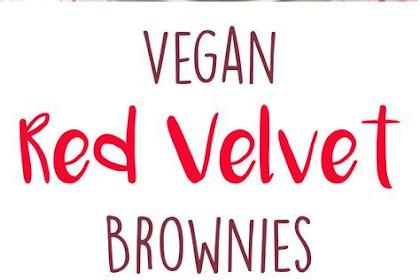 Red Velvet Brownies (Vegan)