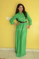 Geethanjali in Green Dress at Mixture Potlam Movie Pressmeet March 2017 011.JPG