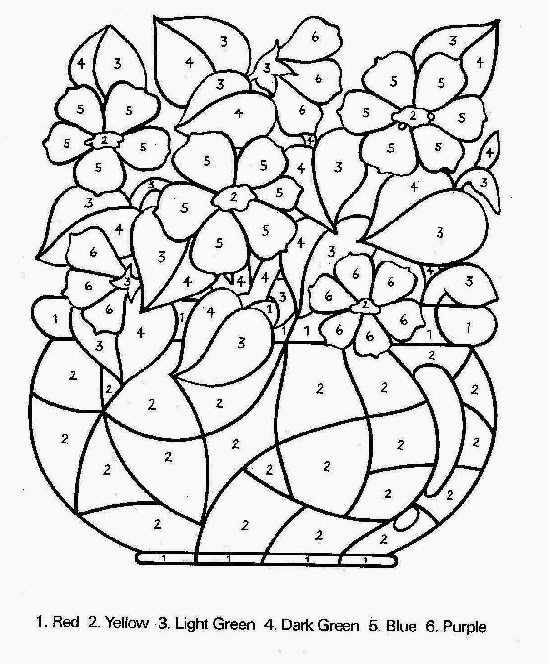 color by number coloring pages for kids coloring pages jpg