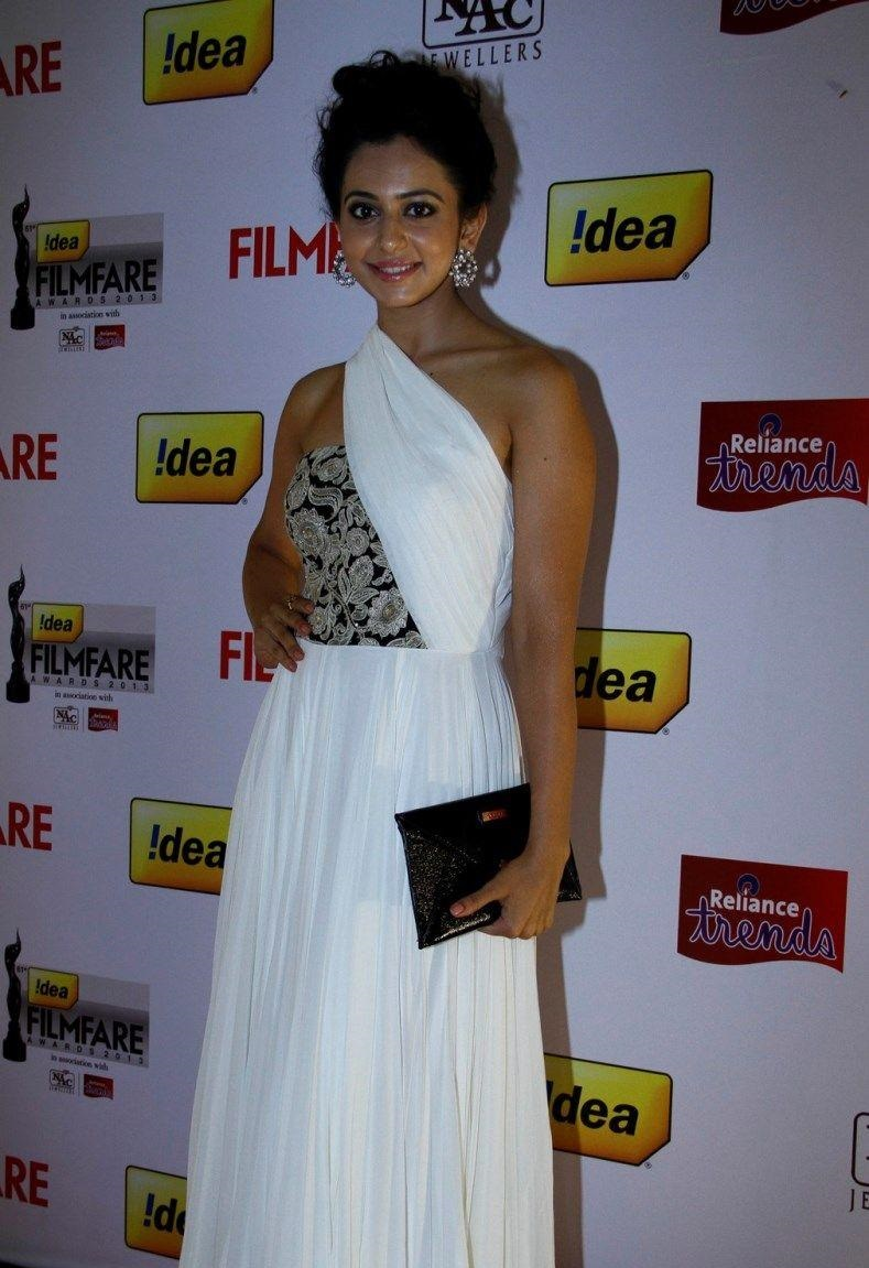 Rakul Preet Singh In White Dress
