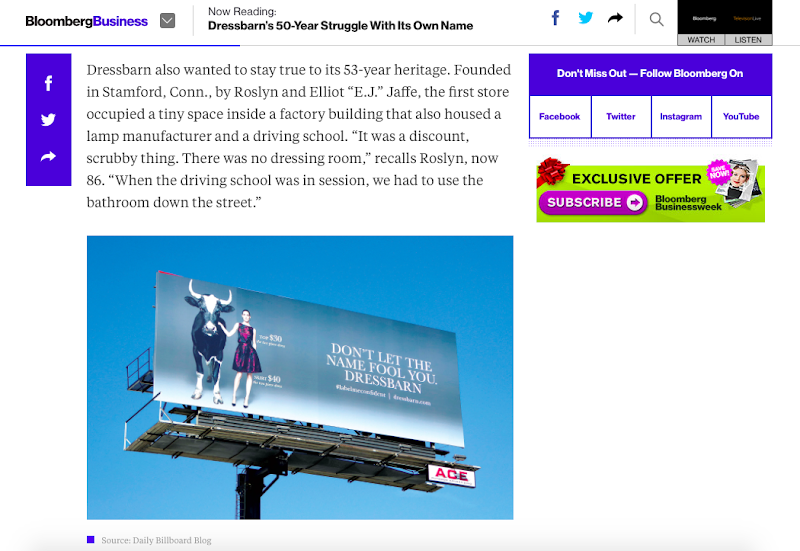 Bloomberg Businessweek Dressbarn website article