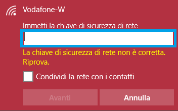 come cancellare password wifi windows 10