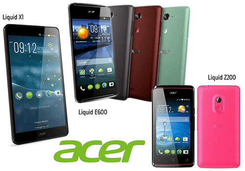 Harga android acer E700