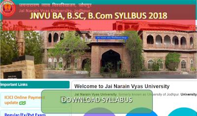 JNVU Arts Syllabus:- JNVU Ba, bed, B P ed, MA M ed 1st, 2ed
