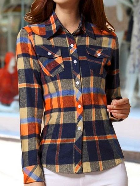 Long Sleeve Plaid Cotton