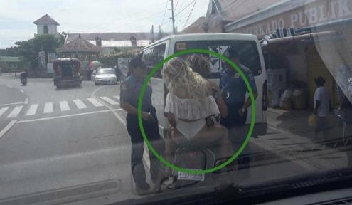 female tourist fined wearing bikini Philippines