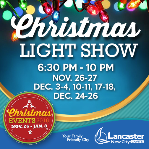 Christmas Light Show of Lancaster City