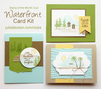 Stampin' Up! Waterfront ~ Stamp of the Month Club Card Kit ~ 2018 Occasions Catalog ~ www.juliedavison.com