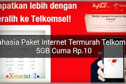 Cara membeli paket 5GB telkomsel 10rupiah