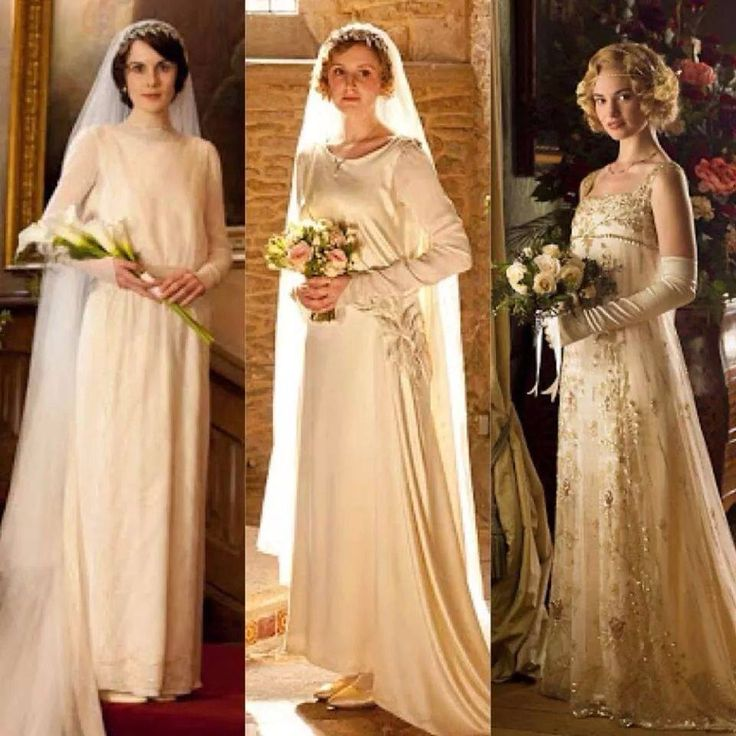 The Ealingly British Downton Abbey Series Has Brought Us Some Beautiful 1920s Inspired Wedding Dresses Over Years In Season Three Lady Mary S