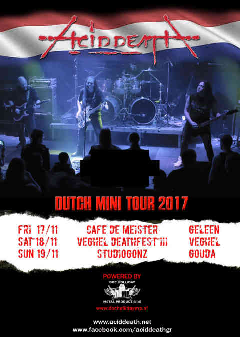 ACID DEATH: Μίνι περιοδεία στην Ολλανδία