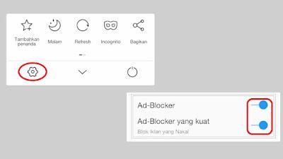 Setting UC Web Browser supaya Iklan Popup tidak muncul