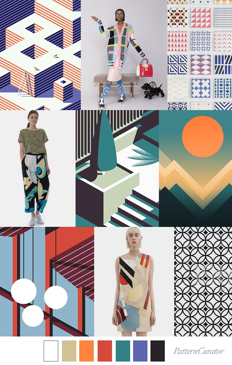 2020 Art Trends.Fashion Vignette Trend Pattern Curator Vector Art Ss 2020