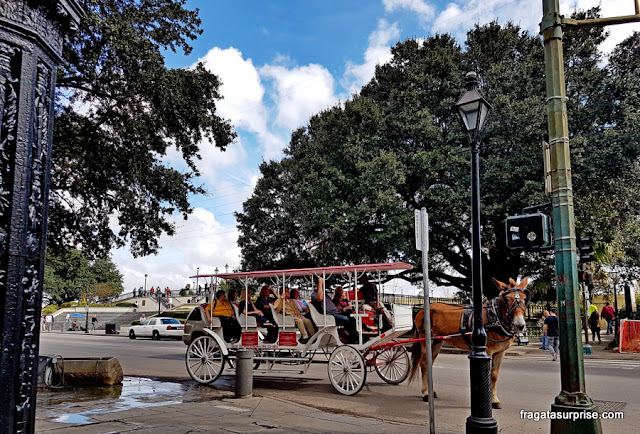 Passeio de charrete pelo Bairro Francês de Nova Orleans
