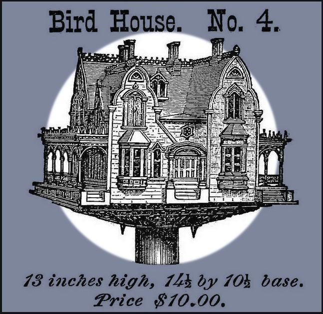 gothic bird house