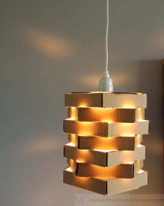 lampu kerajinan tangan dari kardus