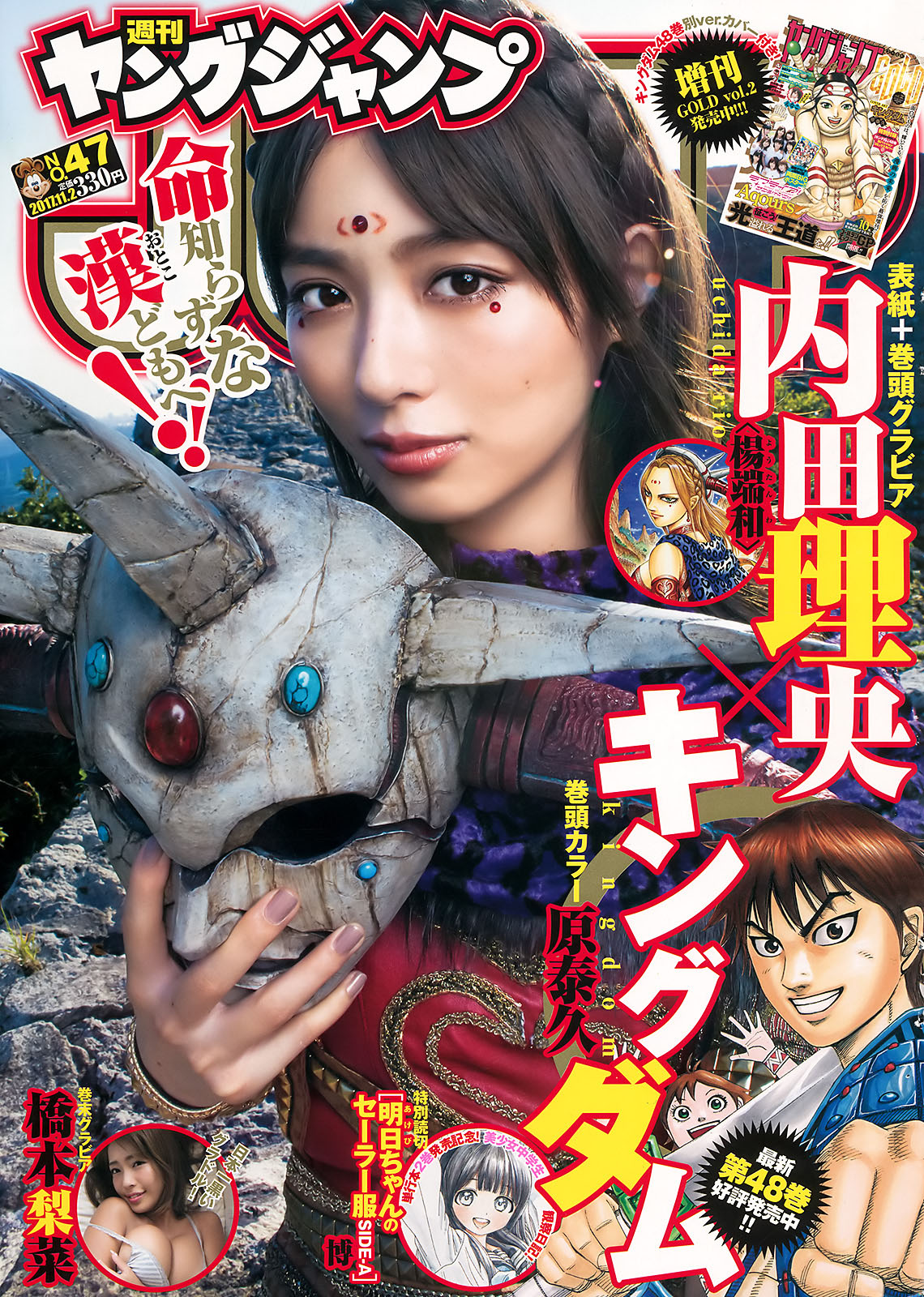 Rio Uchida 内田理央, Young Jump 2017 No.47 (週刊ヤングジャンプ 2017年47号)