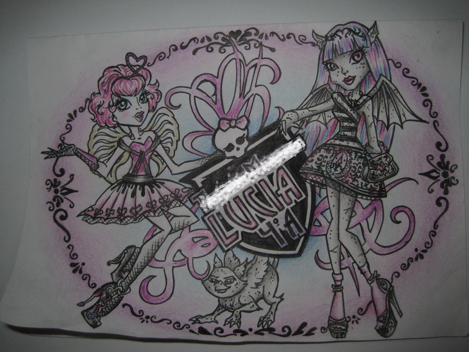 Monster High Libros Creando Pegatinas Para Libros De Monster High