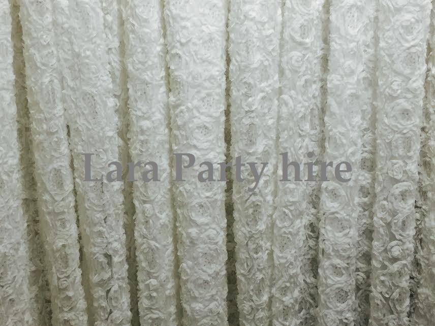 Ivory Lace Ceremony Backdrop €100