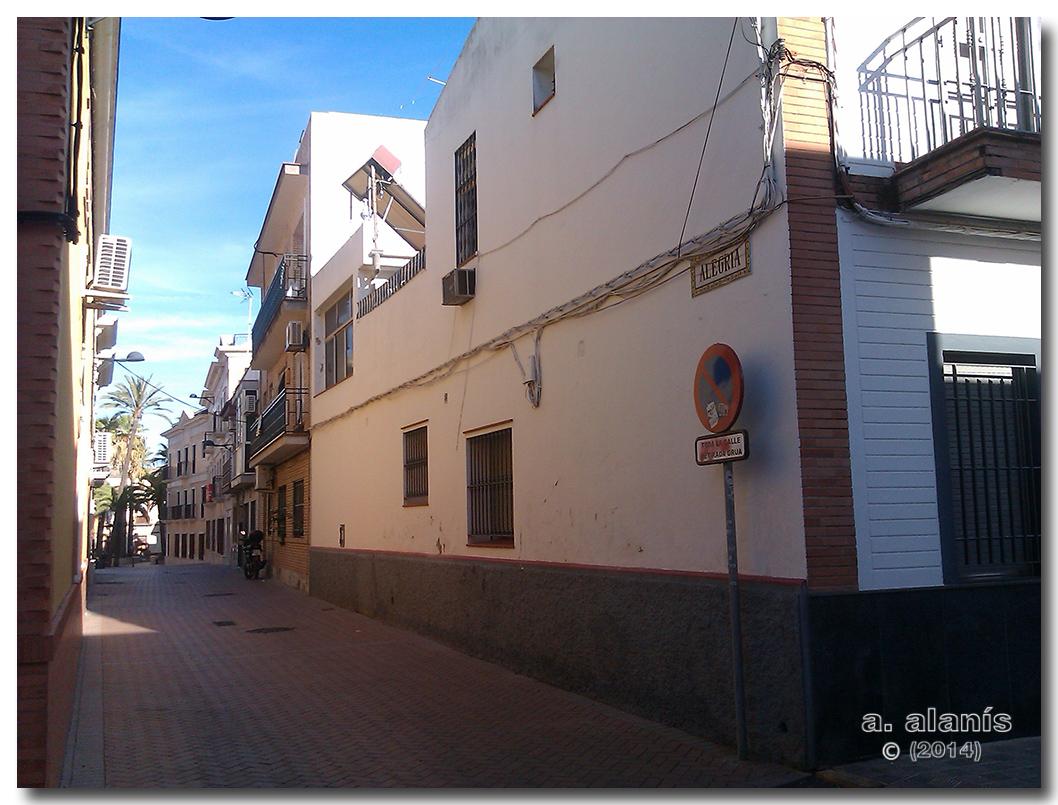 Calle Alegría construcciones antigua calle saco