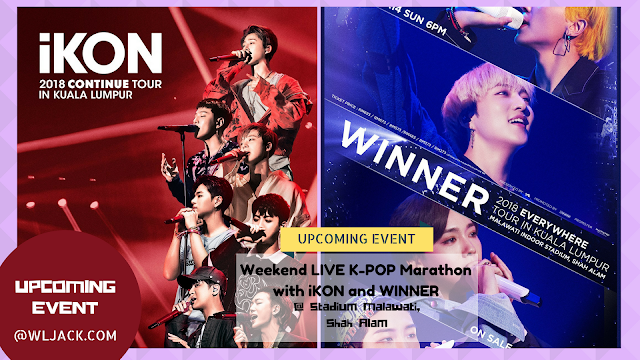 [Upcoming Event] Weekend LIVE K-POP Marathon with iKON and WINNER