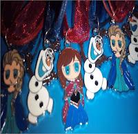 10 Collane principessa FROZEN Elsa Anna gadget idea regalo fine festa compleanno bigiotteria bambina