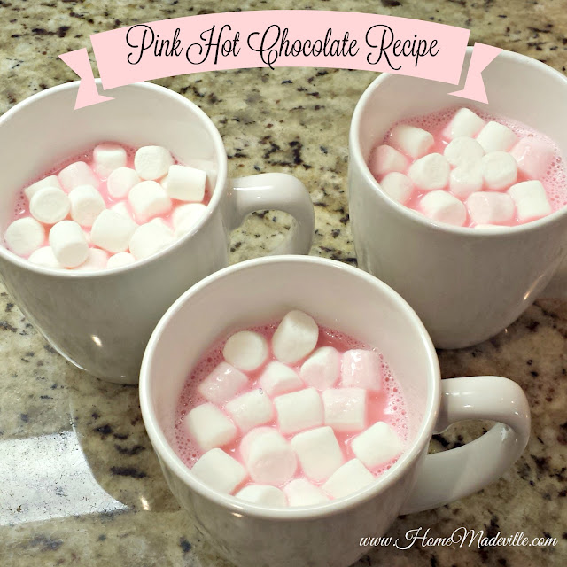 Pink-Hot-Chocolate-in-White-Mug-with-Marshmallows-on-Top