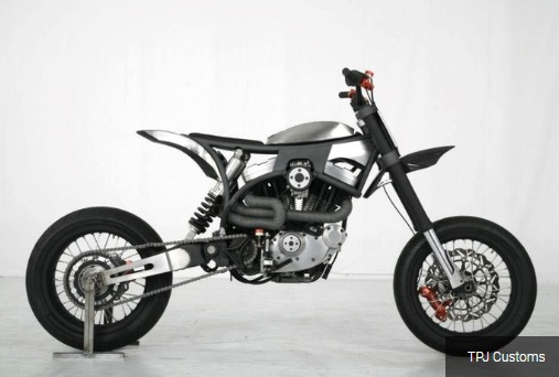 HD Buell Thunderbolt 1998 jadi supermoto TPJ Customs