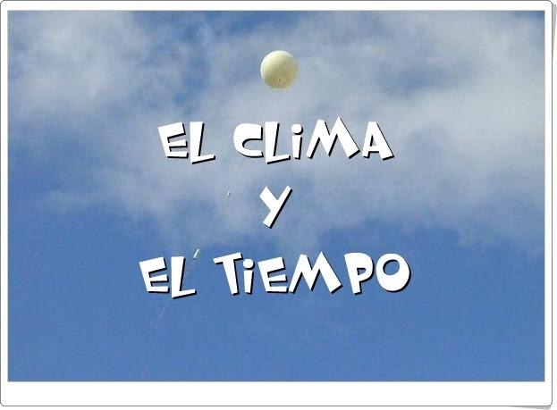"""""""El Clima y el Tiempo"""" (Aplicación interactiva de Geografía de Secundaria)"""