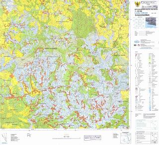 Peta rupabumi 25.000 lembar 1208-442 Sagaranten