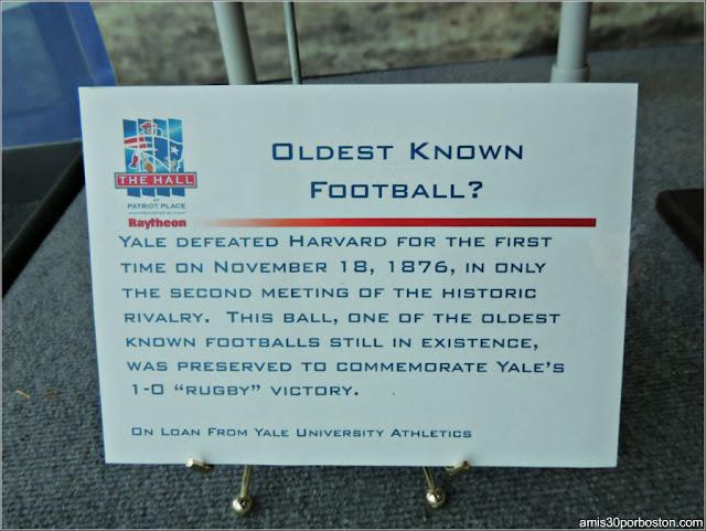 Balón de Fútbol Americano de Yale de 1876