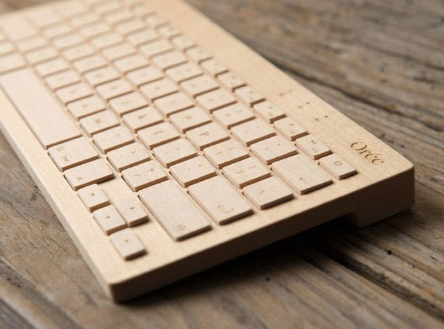 cool unique keyboard design-Wireless Wooden Keyboard