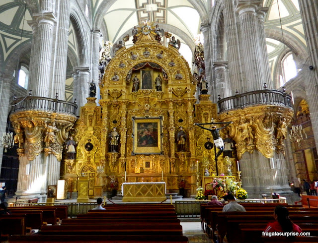 Altar do Perdão, na Catedral da Cidade do México