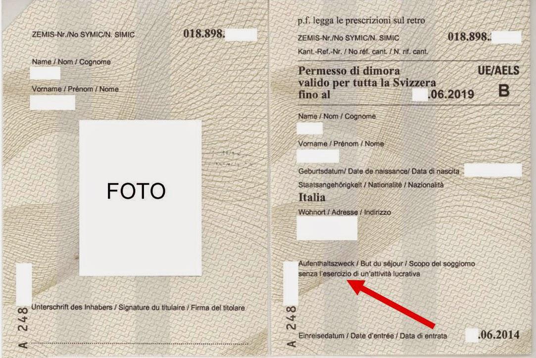 Ettore accenti blog svizzera permesso di dimora b for Numero permesso di soggiorno