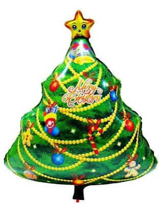 Balon Foil Christmas Tree