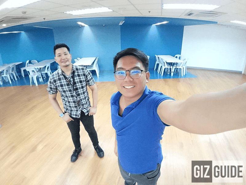 Wide angle selfie camera sample of Next Infinity Quattro